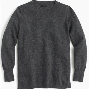 J.Crew cashmere soft grey charcoal sweater